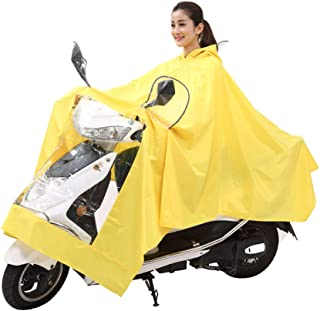 Yuany Ciclismo Poncho Impermeable, Aumentar Sombrero Poncho Poncho batería Adulto Impermeable Impermeable Grueso