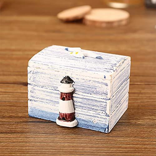 Janly Clearance Sale Caja de joyería para mujer, caja de madera vintage hecha a mano con mini cerradura de metal para guardar joyas, joyas y relojes para Navidad, día de San Valentín (D)