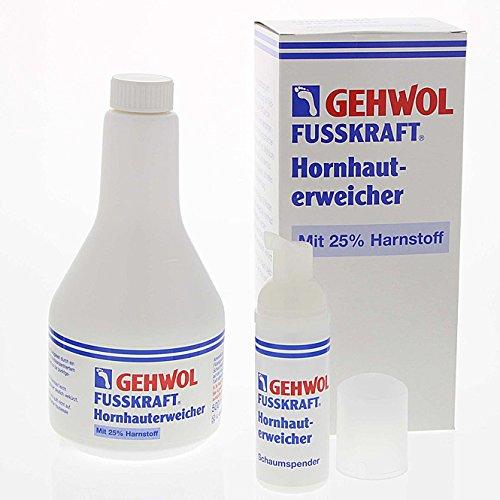 GEHWOL Fusskraft Hornhauterweicher, 25% Harnstoff mit Schaumspenderflasche, Hornhautentfernung, 500ml