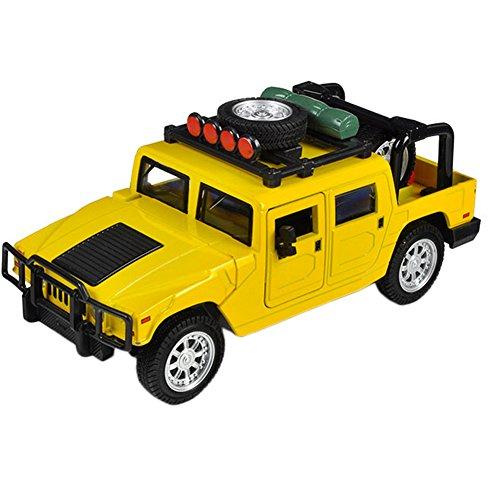 Kids Cool Mini alliage modèles de voitures hors route, jaune (15*6*6.5Cm)
