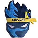 Wicked Cool Toys Ninja Gamer Plush Pillow - Chair Cushion & Game Room Accessory - Tyler Blevins Streamer Logo - 15 Inch - Ages 6+