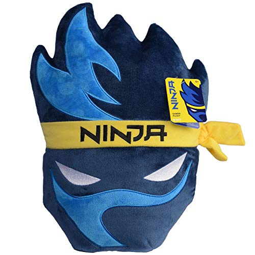 Wicked Cool Toys Ninja Gamer Plush Pillow - Game Room Decor Accessory - Tyler Blevins Streamer Logo - 15 Inch - Ages 6+