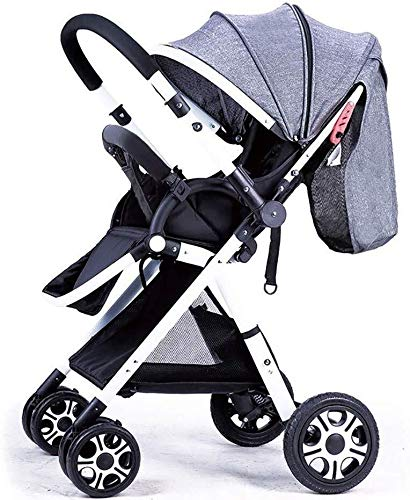 Buy TZZ Folding Baby Stroller Reversible High Landscape Pushchair Buggy with 5-Point Safety Belt for...