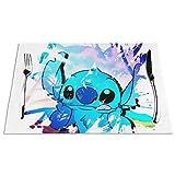 Lilo Stitch - Tovagliette antiscivolo lavabili per sala da pranzo, cucina, tavolo da cucina, 30 x 40 cm