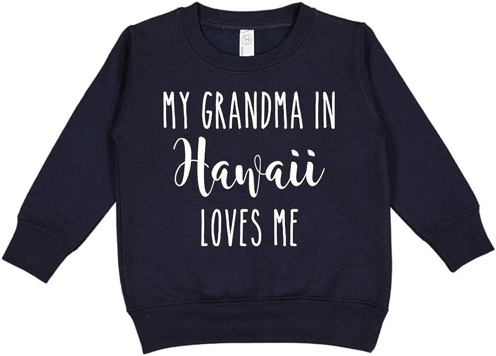 Toddler//Kids Sweatshirt My Grandma in Hawaii Loves Me