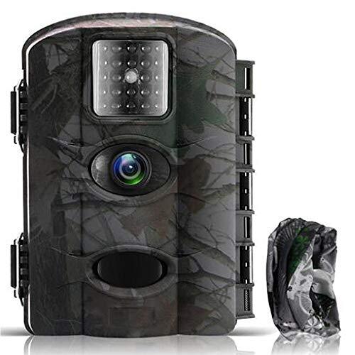 Fantasky Cámara de Caza 16MP 1080P Cámara de vigilància de la Vida Silvestre,Cámara de Juego de detección Nocturna sin LED de Brillo Diseño Impermeable IP65 (Cian)
