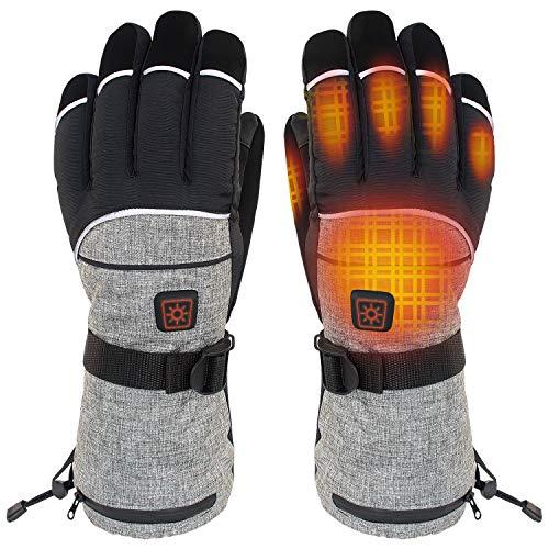 CHEROO Heated Gloves for Men Women, Electric Heated Gloves, Heated Skiing Gloves and Snowboarding Gloves