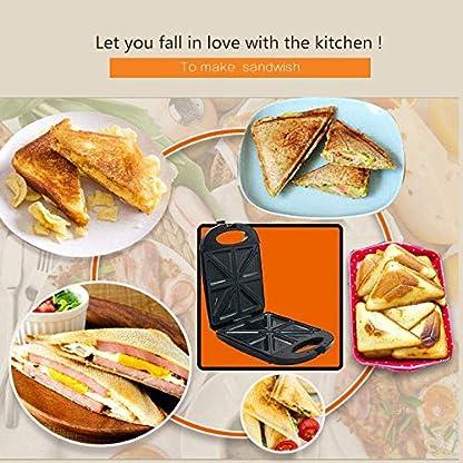 Sandwich-Toaster-Toastie-Maker-tief-fuellende-Antihaftplatten-4-Scheiben-Toastie-Maker-mit-einfacher-Reinigung-Perfekt-fuer-geroestete-Kaesesnacks-1200W-Schwarz