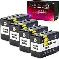 Tuobo 互換インクカートリッジ HP 932XL用 大容量 ブラック HP Officejet 6700 HP Premium 6600 6100 7110 7610 7612プリンター対応 (4 黒)