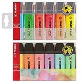 Stabilo Boss Highlighters, 4 Originalteile und 4 Pastellfarben, Doppelpack – sortiert, 4 Packungen