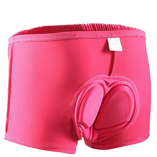 Women's Cycling Shorts Padded Cycling Underwear Shockproof Bicycle Underpant Road Bike Underwear Shorts for Women (S)