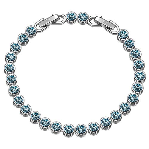 Susan Y regali san valentino per lei braccialetti donna bracciale tennis cristalli da swarovski regali natale originali idee regalo natale bracciale idee regalo donna regali natale donna idee regalo
