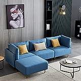 Zeberdany Sofá seccional reversible, sofá en forma de L, sofá de 3 plazas con sofá de sofá reversible para sala de estar