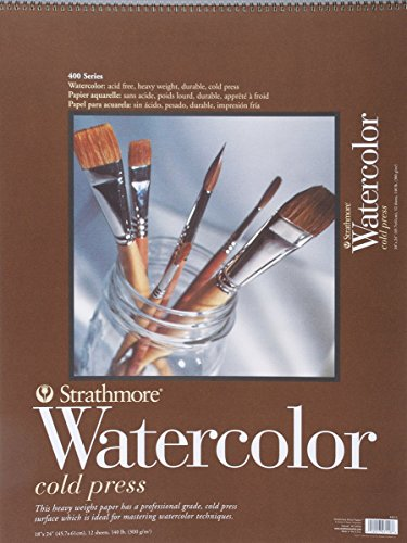 Strathmore P440-5 Watercolor Pad, 18'x24' Wire Bound, 12 Sheets