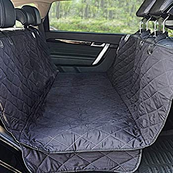 Winner Outfitters Dog Car Seat Covers,Dog Seat Cover Pet Seat Cover For Cars Trucks And Suv - Black 100% Waterproof Hammock Convertible