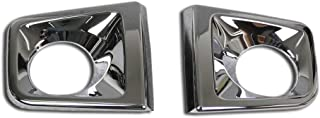 Beautost Fit for Toyota Tacoma 2015-2019 Chrome Front Fog Light Lamp Cover Trims