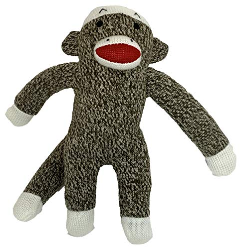 Multipet Sock Monkey Plush Dog Toy