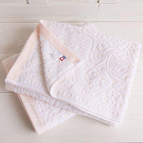 今治タオル アウトレット 高級ホテルタイプ ジャガード織り シャーリング加工 大判ジャンボバスタオル ピンク 1枚