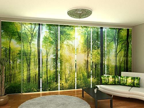 Wellmira Fotogardine, Flächenvorhang, Fotodruck, Schiebevorhang, Bedruckte Schiebegardinen, Gardine mit Motiv, auf Maß (8 x 245x60)