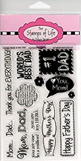 Fathers Day and Mothers Day Stamps for Card-Making and Scrapbooking Supplies by The Stamps of Life - MomAndDad2Love