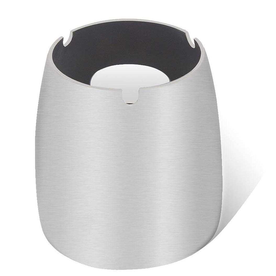 不従順幾分すなわち灰皿、ステンレススチール風灰皿タンブルカップ、屋内または屋外用、ガーデンバルコニーシルバー