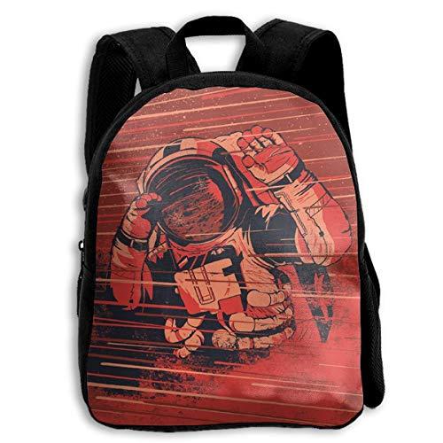 jenny-shop Dangerous Space Kid Rucksäcke für Jungen und Mädchen Vorschule Rucksack Schultasche