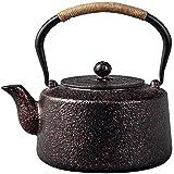 MGE Teiera in Ghisa da 1,4 Litri Bollitore per tè in Stile Giapponese Set da tè con Infusore per tè Sfuso Non Rivestito