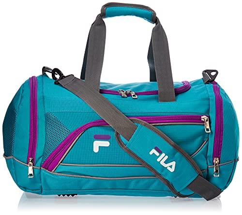 Fila Sprinter - Bolsa deportiva (19'), Sprinter - bolsa deportiva (19 pulg. / 48 cm), Verde azulado/Púrpura, Una talla