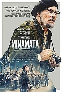 "Official - Minamata (Johnny Depp, Hiroyuki Sanada) 2020 Film Poster - Canvas (26""x24"")"