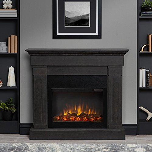 Real Flame Crawford Electric Fireplace in Gray Décor Dining electric Features Fireplaces Home Kitchen