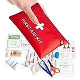 Mini Erste Hilfe Set,Klein Erste-Hilfe-Set Notfall Überlebens Kit 78er Pack Notfalltasche Tasche für Medizinisches Wattestäbchen Survival Kit für Zuhause Büro Reisen Auto Wandern Camping Überleben