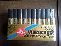 ユニバーサルVCRテープストレージCases Videocases for Beta & VHS 10パックペン先