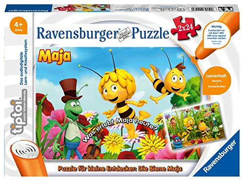 Ravensburger Spieleverlag La Abeja Maya Puzzle para niños, 2 x 24 Piezas, 00047