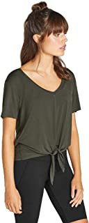 Rockwear Activewear Women's Nevada Tie Front V Neck Tee from Size 4-18 for T-Shirt Tops