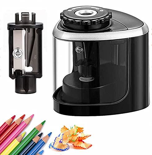 UrMsun Sacapuntas eléctricos, sacapuntas portátil, hoja para afilar rápidamente, adecuado para n. ° 2 / lápices de...