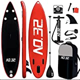 Tabla Hinchable de Paddle Surf + SUP Paddle Remo de Ajustable |...