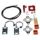 Kit de Accesorios para extrusoras de Impresora 3D para Creality Ender 3 y para Ender 3 Pro 1 * Tubo de PTFE Negro, 4 * Muelles mejorados, 2 * Calcetines de Silicona de Color café, 2 * Almohadillas