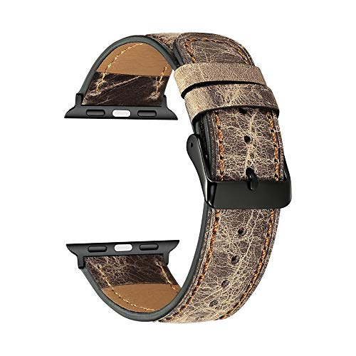Pulsera Compatible Con Apple Watch Leather Band 38 Mm 40 Mm 42 Mm 44 Mm Correas De Repuesto Para La Serie 4 3 2 1 Mujeres Y Hombres A 42mm 44mm