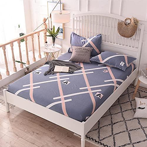 FJMLAY Sábanas ajustablesperfecto para el colchón, sensación Suave,Sábanas de algodón para Cama, Almohadillas Protectoras para Dormitorio Apartments-G_120cmx200cm