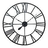 Antic by Casa Chic – Große Metall Wanduhr mit Quarz Uhrwerk – 80 cm Durchmesser...