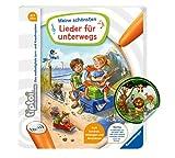Collectix Ravensburger tiptoi Buch - Meine schönsten Lieder für unterwegs + Kinder Tier-Sticker   Kinderlieder 4-7 Jahre