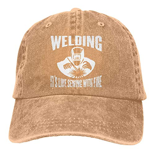 Preisvergleich Produktbild Voxpkrs Trucker Cap Classic Welding It's Like Sewing with Fire Durable Baseball Cap, Adjustable Dad Hat Black asdfghjklzxc17848