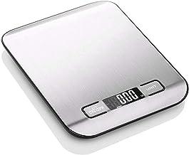 Balance de cuisine numérique professionnelle - 5 kg - Mesure précise de 1 g - En acier inoxydable - Écran LCD - Fonction tare