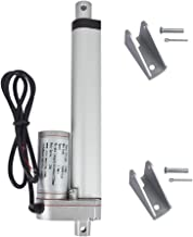 ECO-WORTHY 12V 6 Inch Stroke Linear Actuator 330lbs Maximum Lift with Mounting Brackets (12VDC 6'')