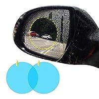 2 個バックミラー車保護フィルムアンチフォグ光窓防水リアビューステッカー-Round, CHINA