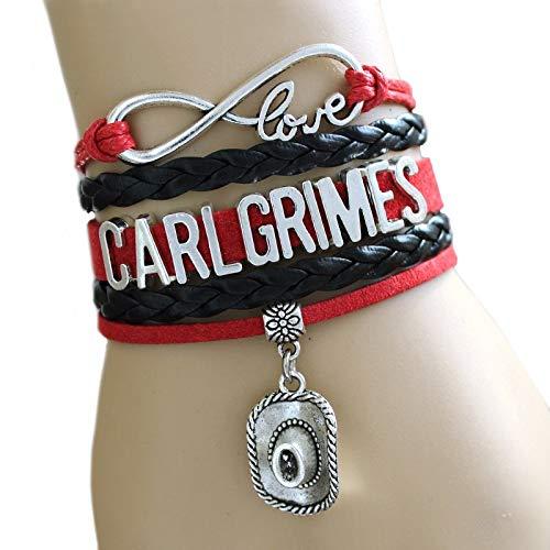 ZILMAKO NEW RAAIVED Infinity Bracelet Love CARL grimes cowboy hat DARYL DIXONC rossbow Bracelet Walking Dead Bracelet Custom, R00716