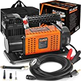 ALL-TOP Heavy Duty Portable 12V Air Compressor Kit Inflate 180L (6.35Ft³)/Min...