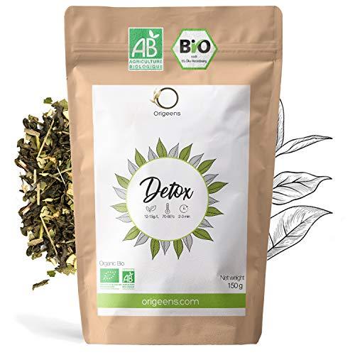 BIO DETOX TEE 150g | Heiß & Eistee | Loser Tee auf Basis von grünem Tee und Mate aus kontrolliert biologischem Anbau | Entgiftungskur 30 Tage