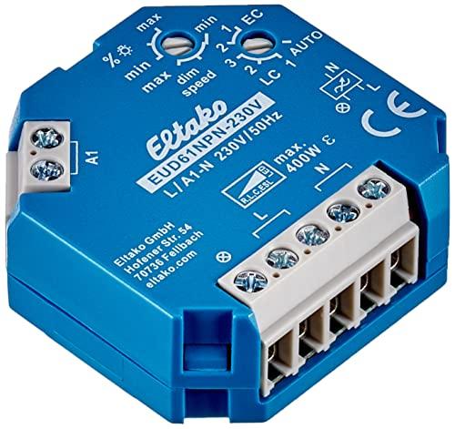 Eltako Universal-Dimmschalter 230V, Power MOSFET, ESL LED bis 400W, 1 Stück, EUD61NPN-230V, 400 W, Blau