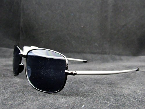 2 Pairs Foster Grant Gilligan Rectangular Polarized Unisex Sunglasses, Gunmetal,55 Mm by Foster Grant